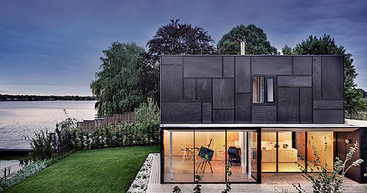 Casa sul lago maximilian eisenk ck legnoarchitettura for Costruire una casa sul lago