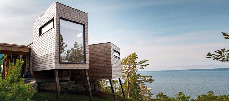 Casa vacanze rever drage legnoarchitettura - Case norvegesi interni ...